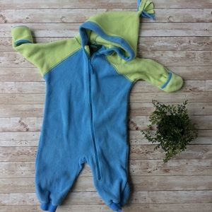 L.L. Bean Fuzzy Hooded Body Suit Size 12-18 Months